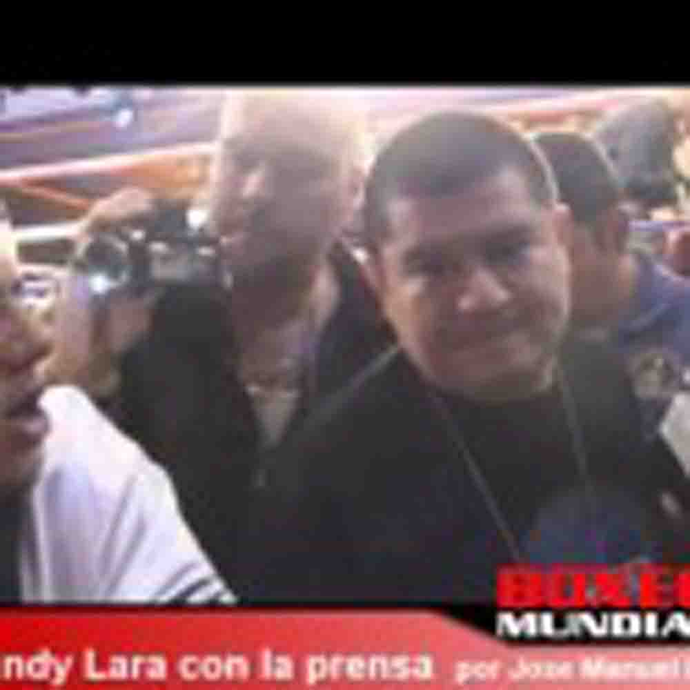 VIDEO: ERISLANDY LARA HABLA CON LA PRENSA DESPUES DE SU PELEA CON MARTIROSYAN