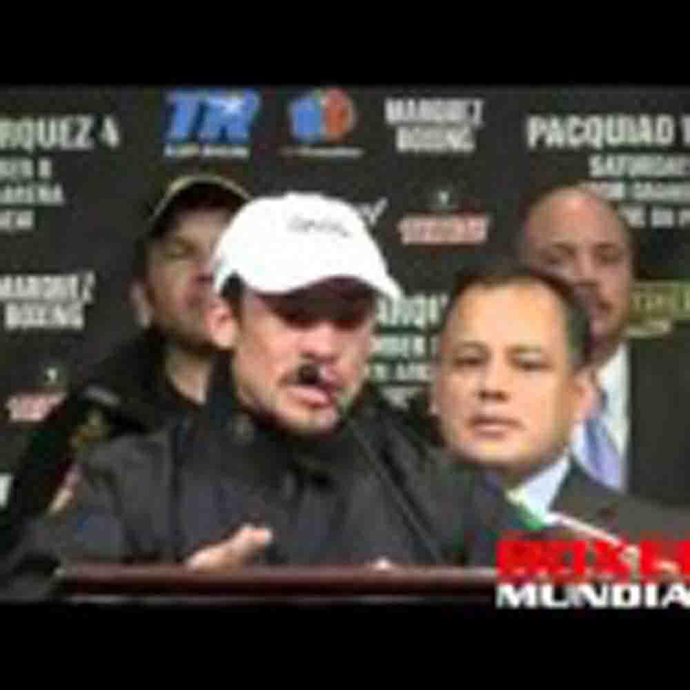 Video: Marquez habla en la conferencia de prensa para su pelea con Pacquaio