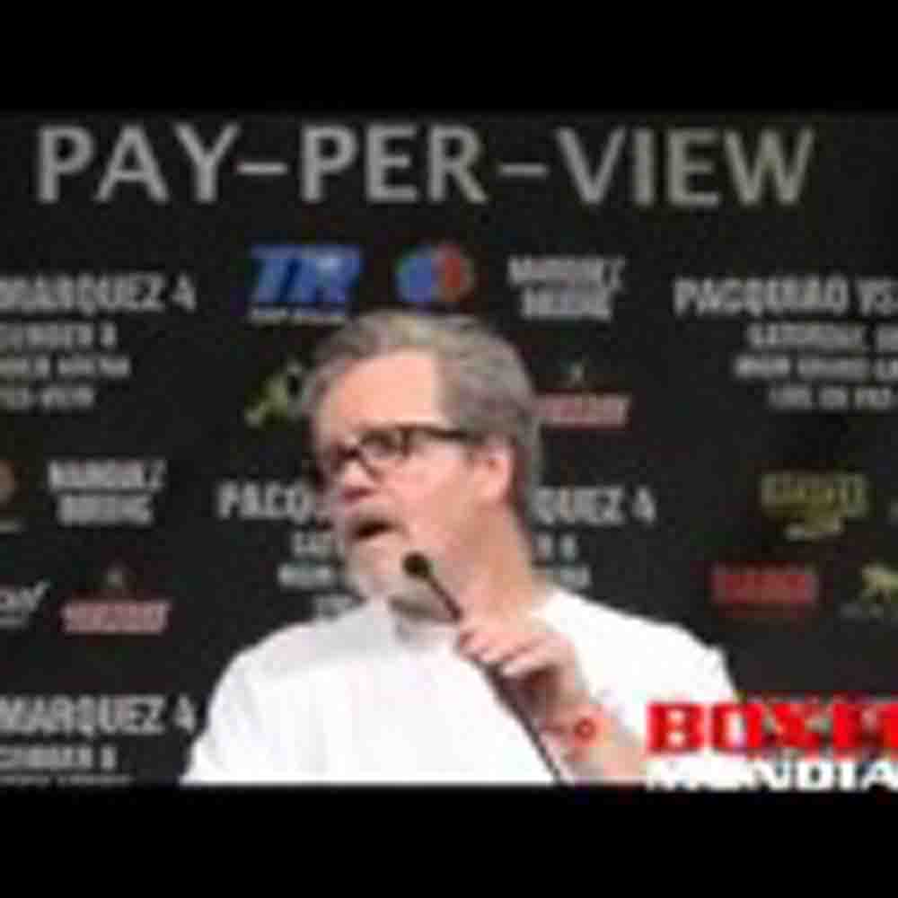 Freddie Roach at the Marquez-Pacquiao 4 post fight presser
