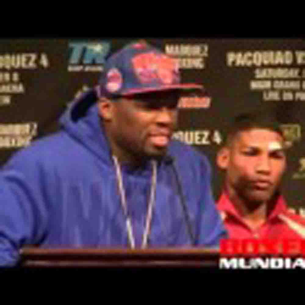 Video: Yuriokis Gamboa and 50 Cent at the post fight presser for Farenas fight