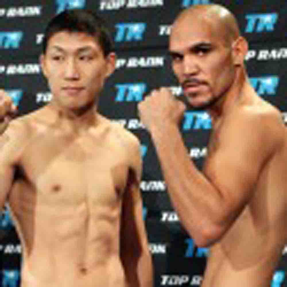 Ray Beltran vs Ji Hoon Kim weighin photos and videos