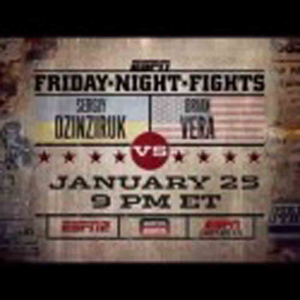 Former Junior Middleweight Titlist Dzinziruk on ESPN's Friday Night Fights