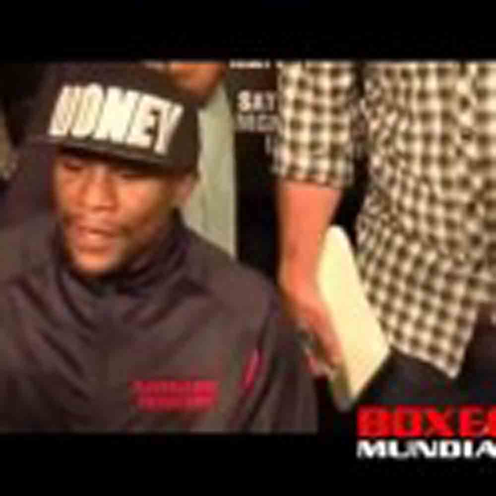 Video: Floyd Mayweather talks to the press about his fight with Robert Guerrero