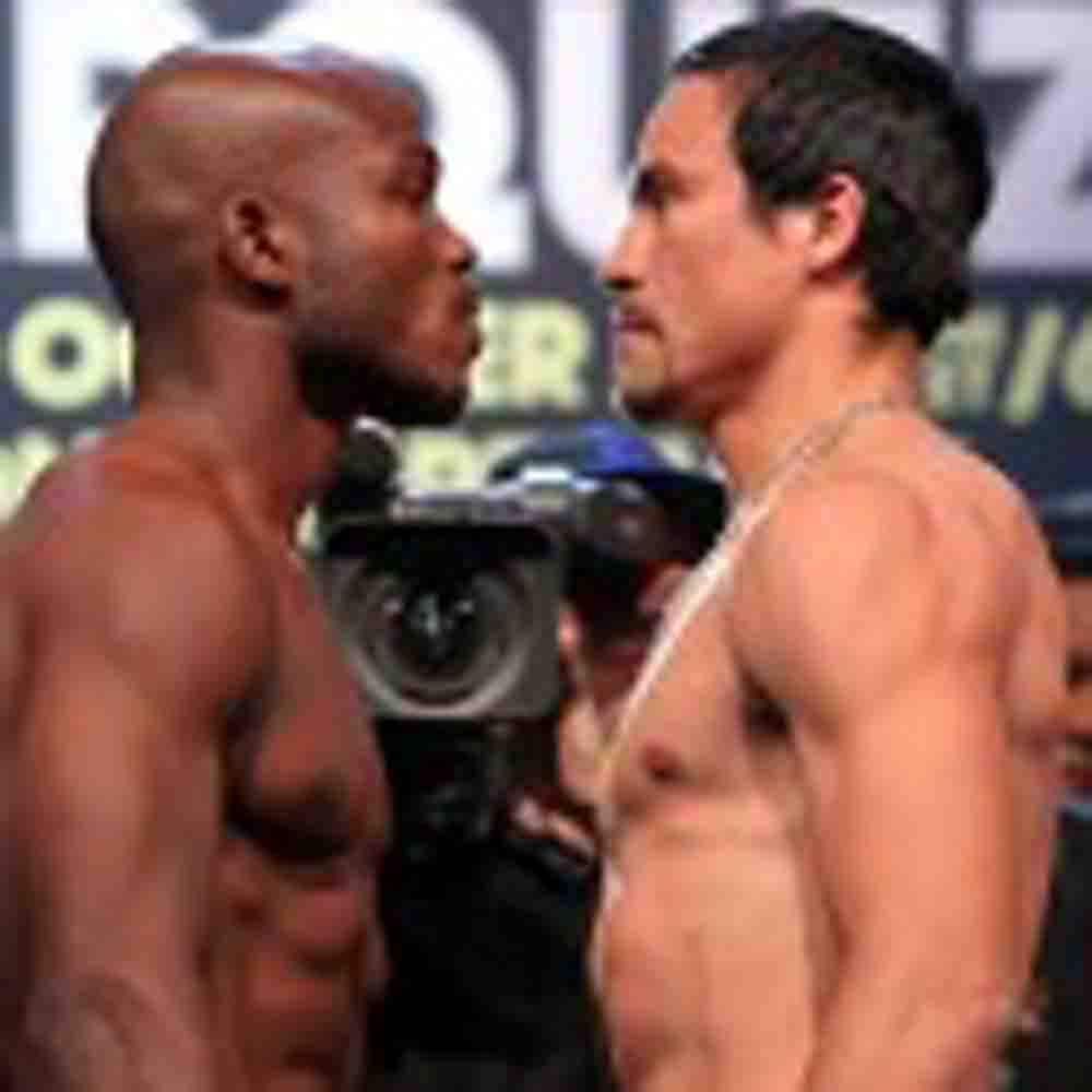 Timothy Bradley and Juan Manuel Marquez make weight