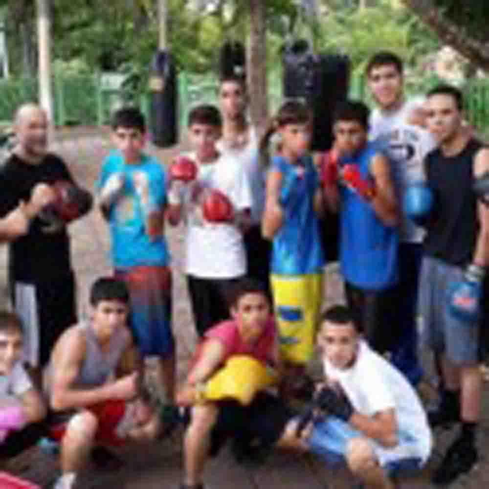 Puerto Rico / Gimnasio de boxeo en plaza pública de Orocovis