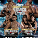 Three championship bouts headline five-fight main card for World Series of Fighting 10: Branch vs. Taylor