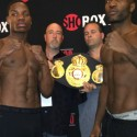 Official Weigh-in: Antoine Douglas 155.5 – Michel Soro 157