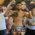 Cerca del  peso boxeadores de 'Noche de Campeones'