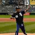 ERISLANDY LARA THROWS OUT FIRST PITCH AT CHICAGO WHITE SOX GAME BEFORE HIS PREMIER BOXING CHAMPIONS ON SPIKE SHOWDOWN AGAINST DELVIN RODRIGUEZ